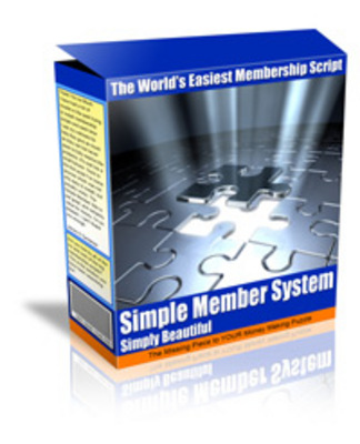 Product picture Simple Member script - MRR Rights Included